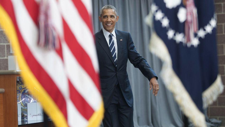 Präsident Barack Obama bei einem Auftritt: An diesem Dienstag soll ein Brief an ihn geschickt werden