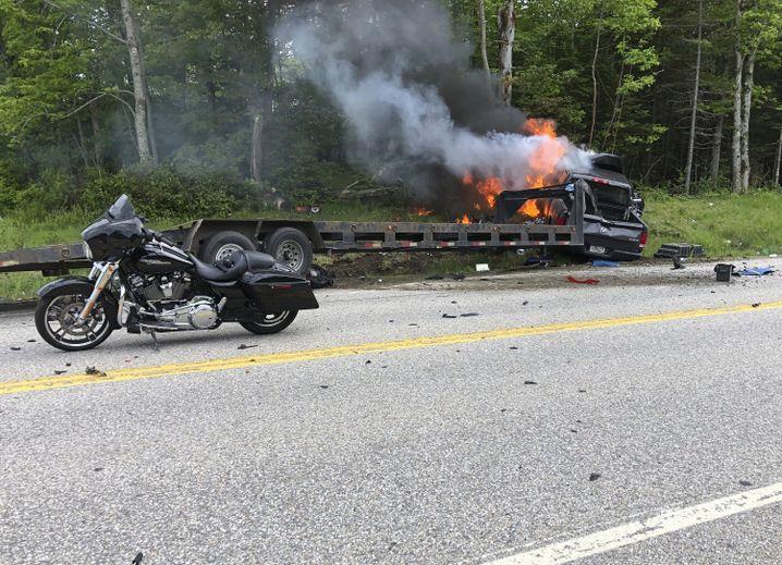 Unglücksstelle in New Hampshire