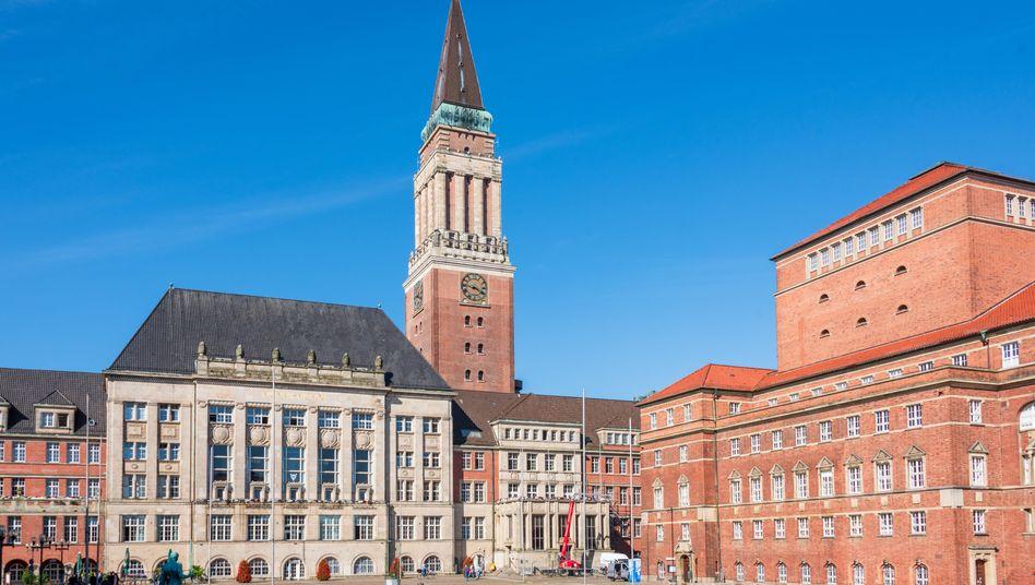 Kieler Rathausplatz (Archivbild): tödliches Unglück bei Fototermin