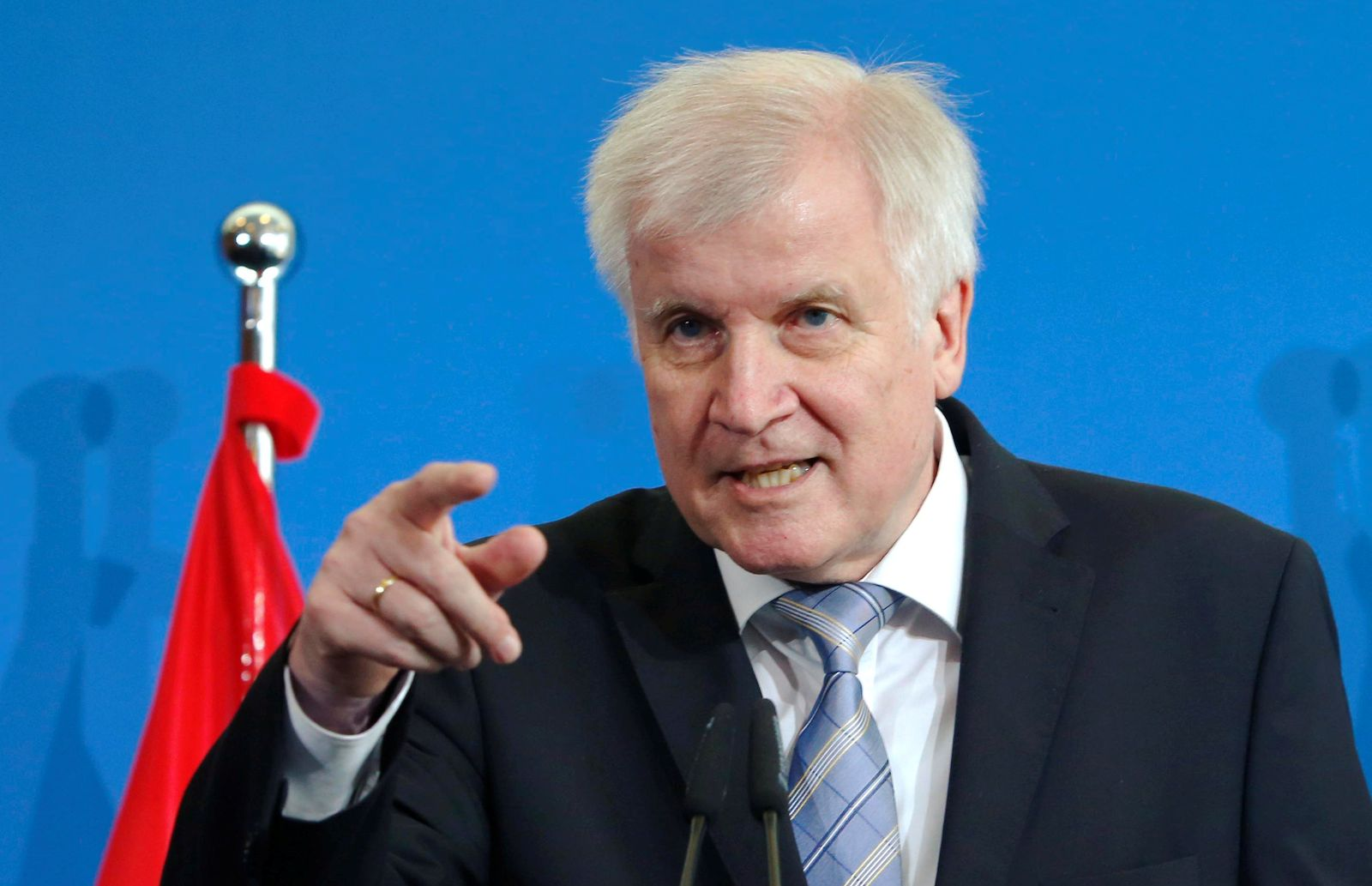 German Interior Minister Seehofer attends a news conference in Berlin