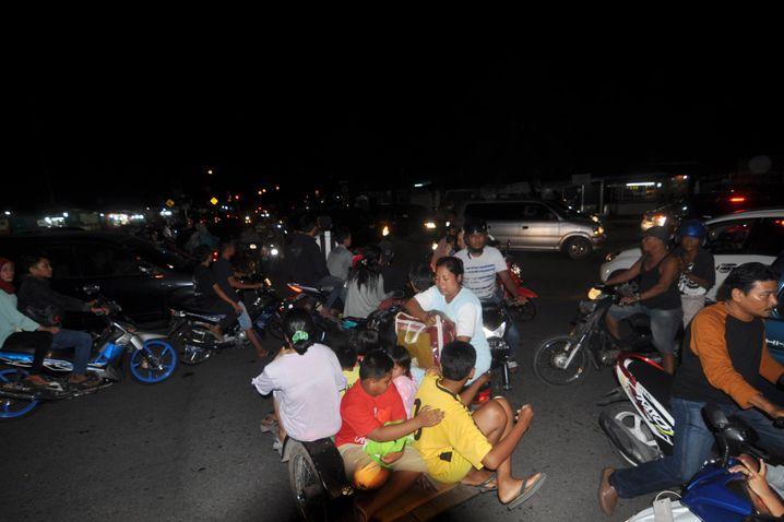 Evakuierung in Padang