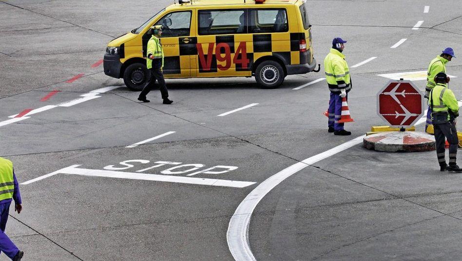 Streikende am Frankfurter Flughafen im Januar