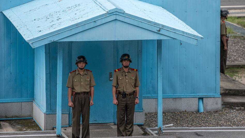 Nordkoreanische Grenzposten