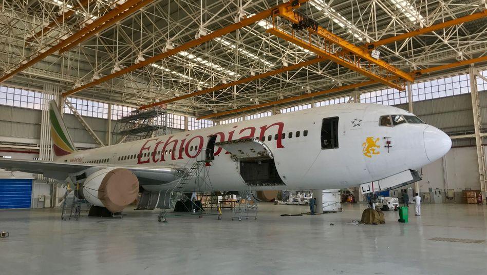Hangar im Hauptquartier von Ethiopian Airlines