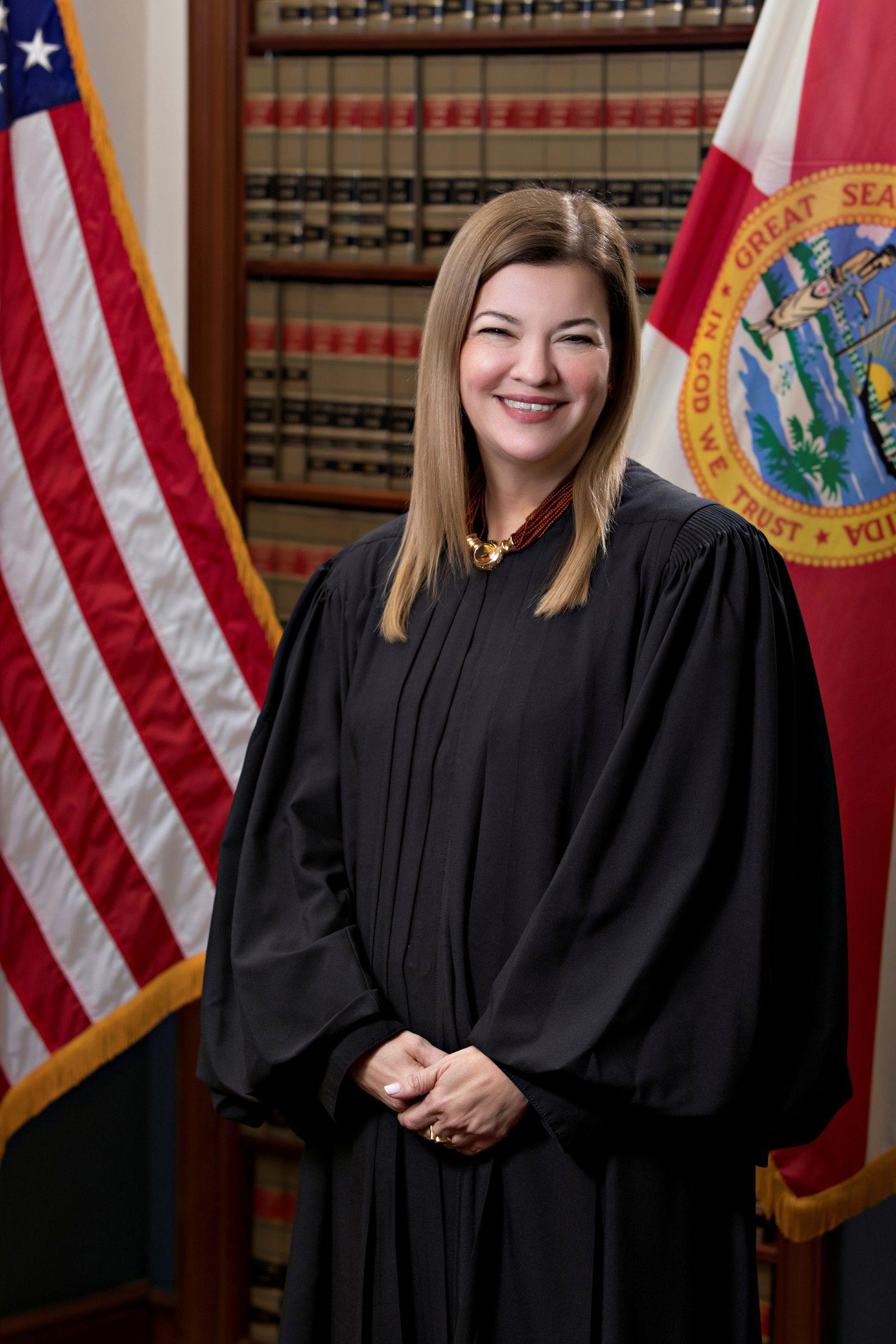 FILE PHOTO: Florida Supreme Court Justice Barbara Lagoa poses in an undated photograph