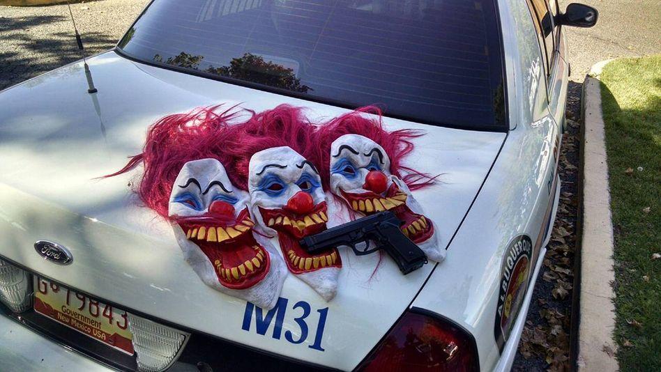 Clownsmasken in New Mexico
