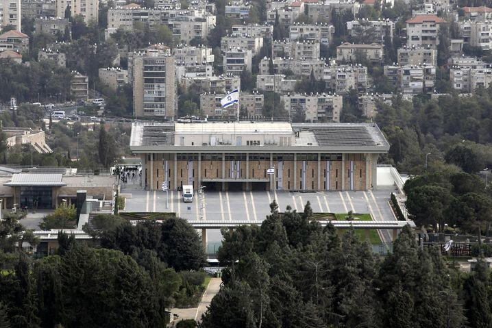 Das Knesset-Gebäude in Jerusalem