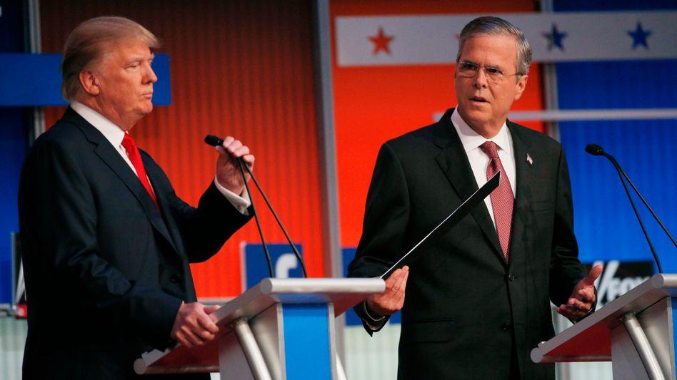 Republikaner Trump, Bush: Feinde im Kampf um das Weiße Haus