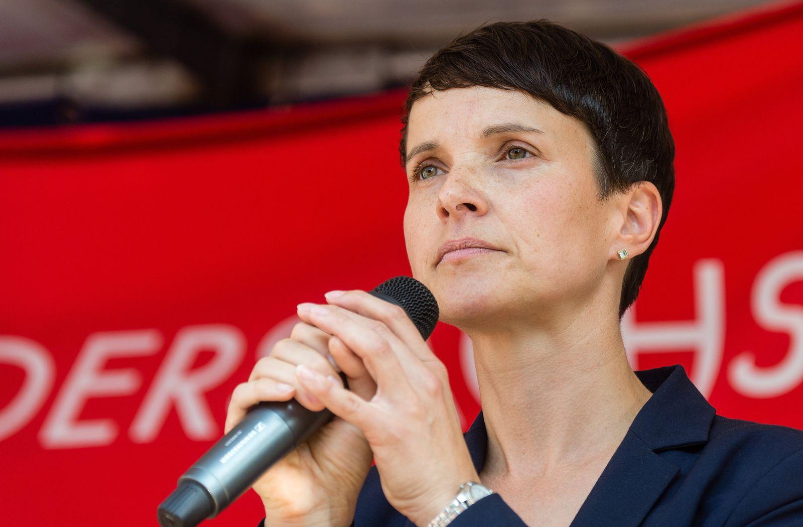 AfD-Wahlkampf Frauke Petry