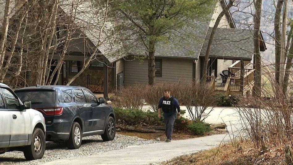 Haus von vermeintlicher Witwe in North Carolina: Die Polizei durchsucht das Anwesen
