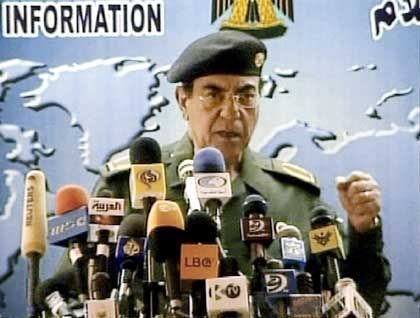 """""""Ich informiere Sie jetzt, dass ihre Annahmen fern jeder Realität sind"""": Comical Ali alias Mohammed Saïd al-Sahhaf"""