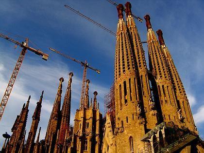 A view of Catalan architect Antoni Gaudi's unfinished cathedral La Sagrada Familia in Barcelona