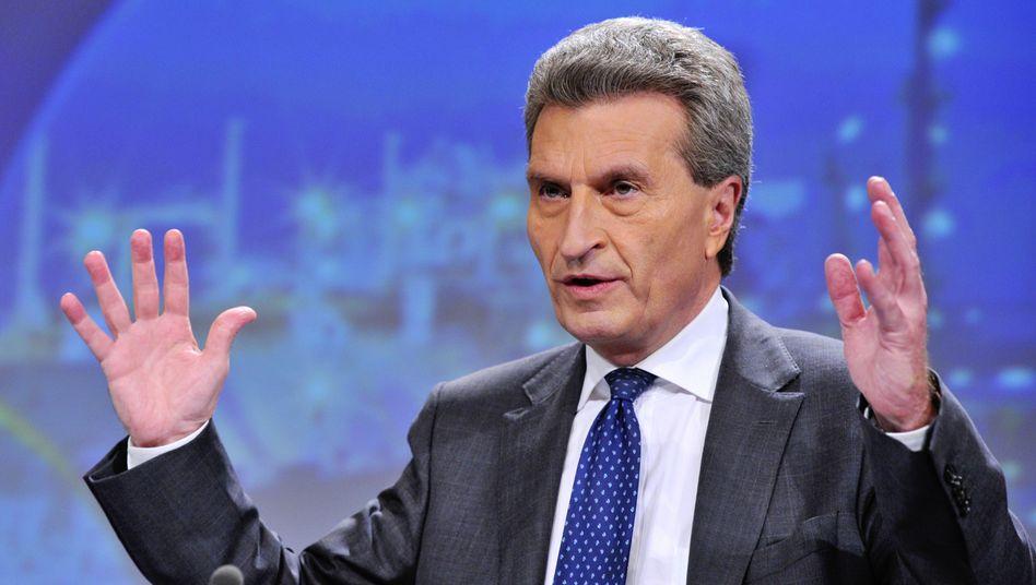 EU-Energiekommissar Günther Oettinger (CDU): Gibt Merkel Kontra beim Schuldenschnitt