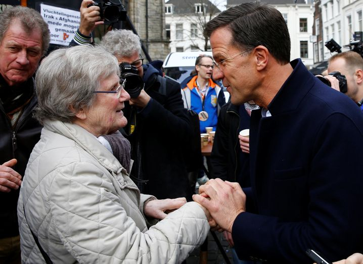 Mark Rutte im Wahlkampf