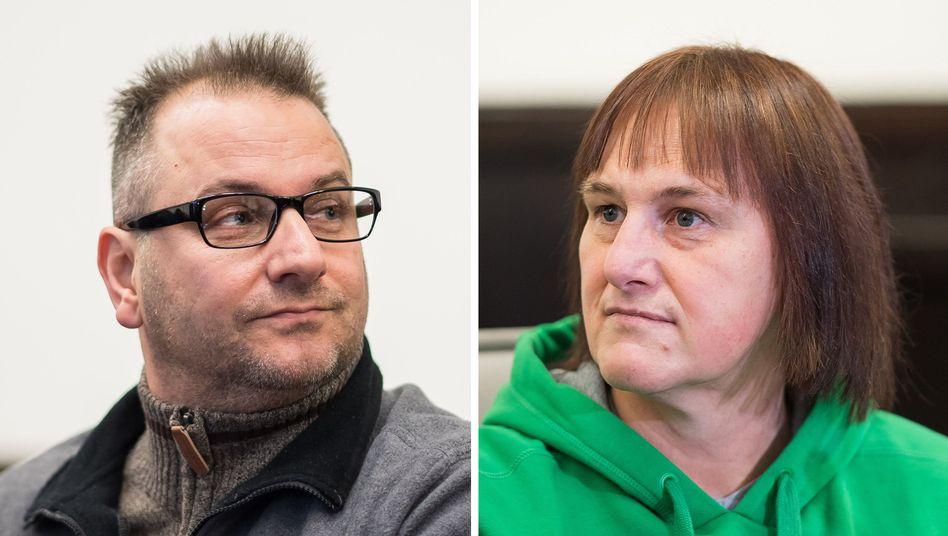 Die Angeklagten Wilfried Max W. und Angelika W. im Landgericht Paderborn (Archivbild)