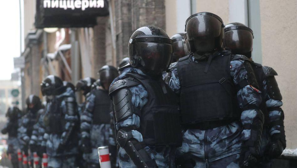 Polizisten in Moskau