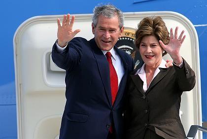 Abflug: George W. und Laura Bush verabschieden sich