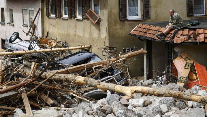Unwetter: Die Schuttberge in Braunsbach