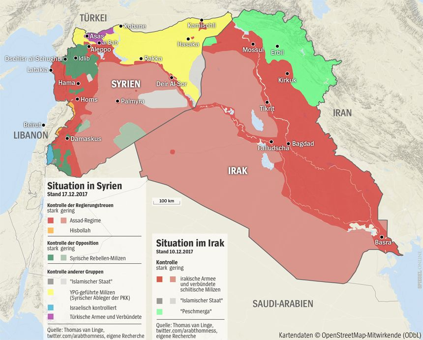 GRAFIK KARTE SYRIEN + IRAK 10.12 bzw. 17.12.2017