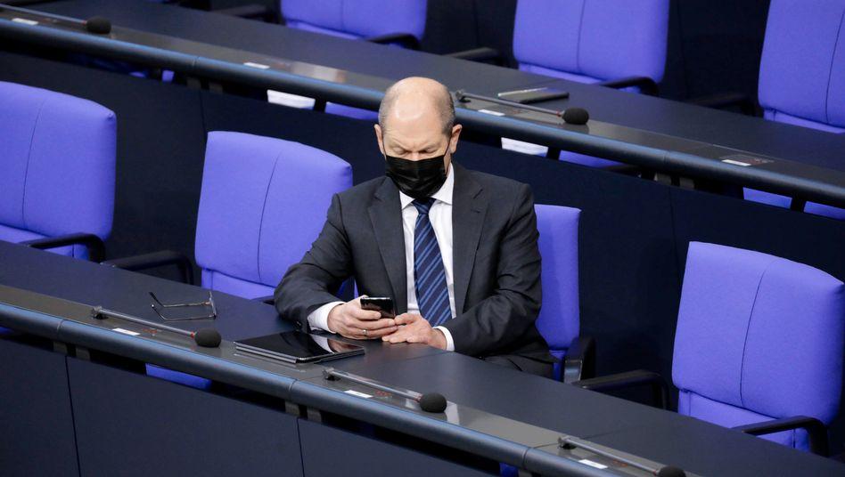 Scholz am 24. Januar im Bundestag