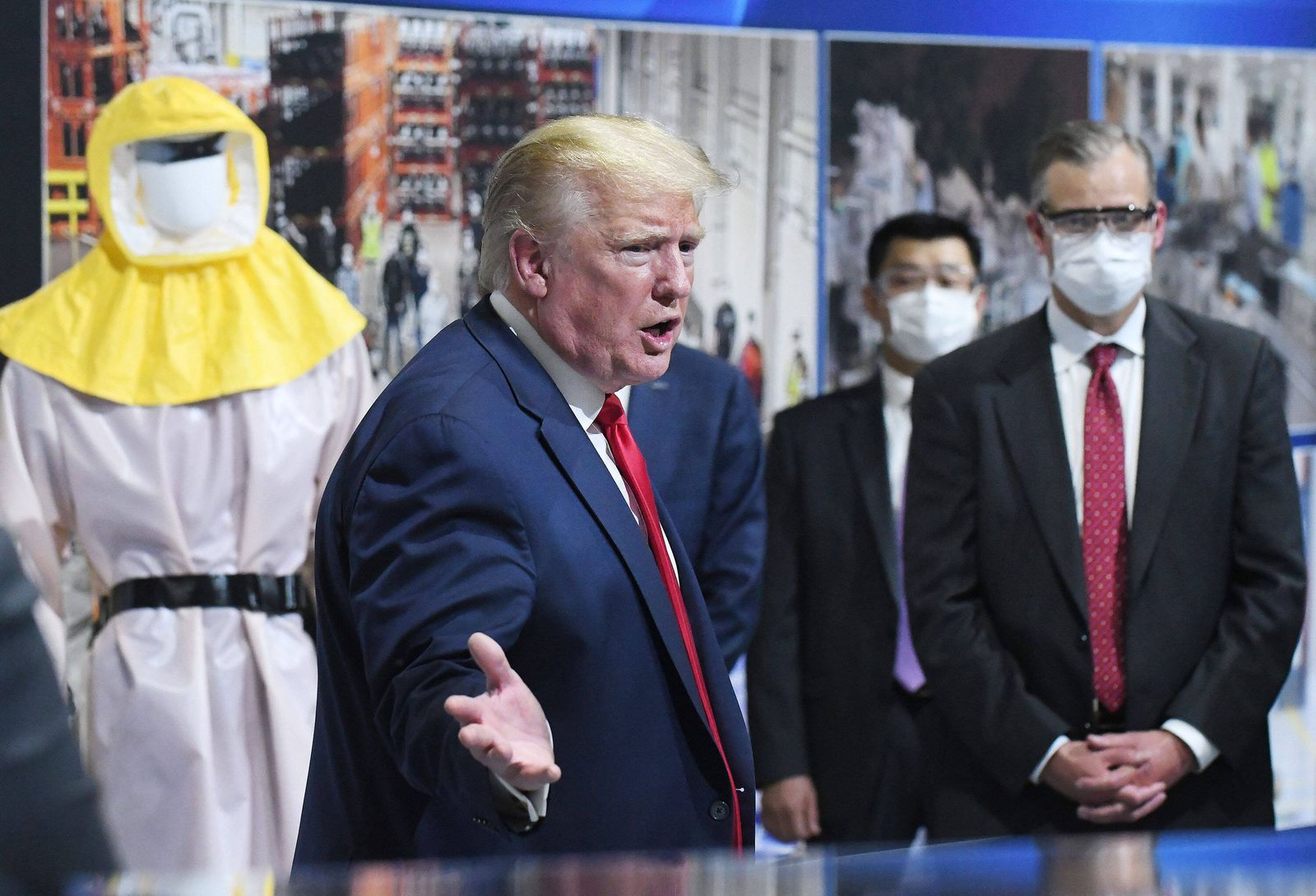 May 21, 2020, Ypsilanti, Michigan, USA: President DONALD TRUMP speaks during a visit to Ford Motor Co. s Rawsonfille Co