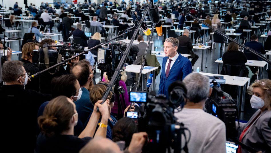 Höcke auf dem Bundesparteitag in Dresden: Sehr präsent