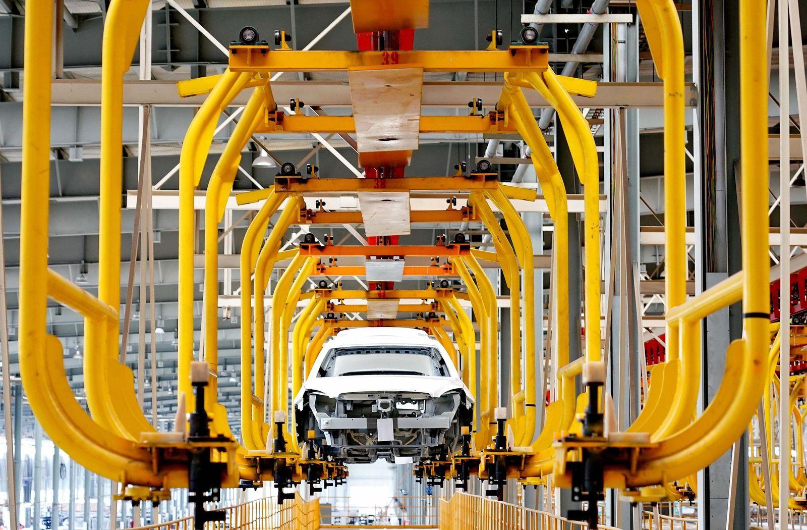 Produktion von Elektroautos in China