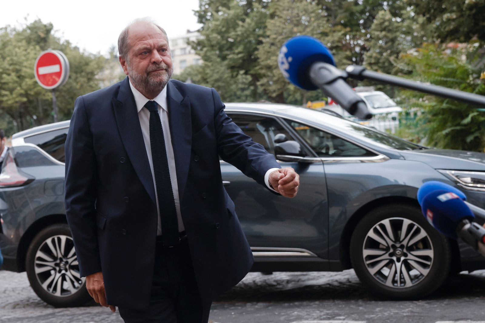 French Justice Minister Eric Dupond-Moretti at courthouse in Paris