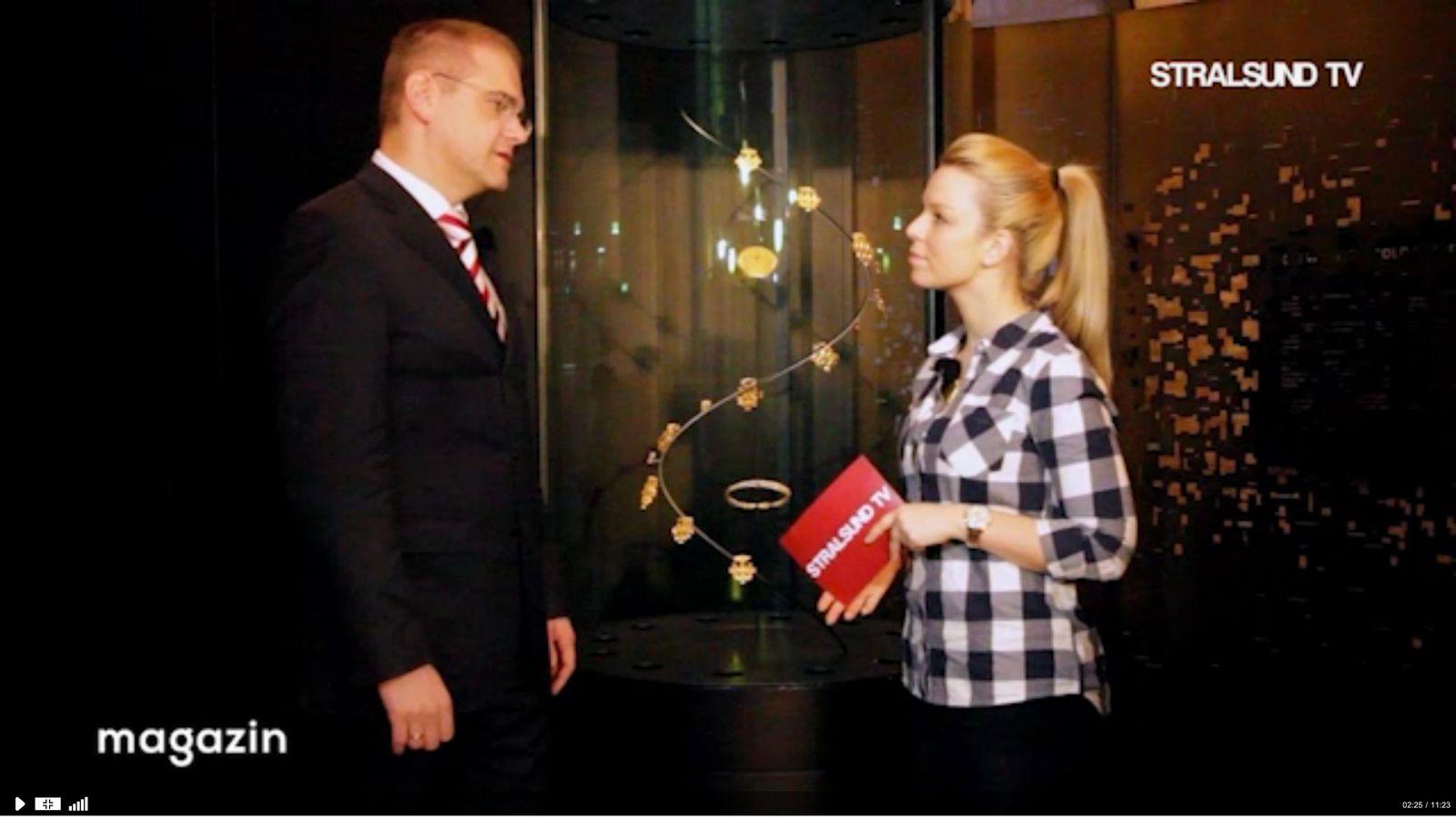 EINMALIGE VERWENDUNG Interview Stralsund TV SCREENSHOT