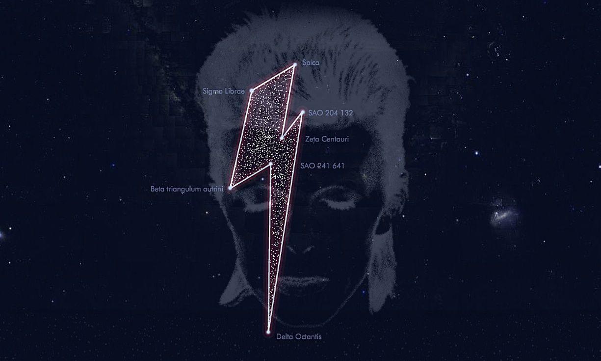 EINMALIGE VERWENDUNG Bowie / Sternenkonstellation