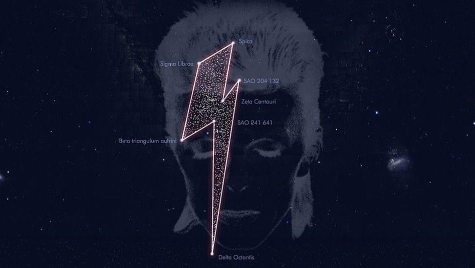 Blitz im Weltall: Ehrung für Bowie