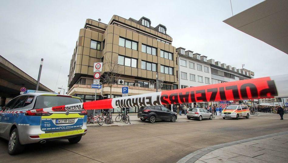 Polizeieinsatz am Tatort in Marburg