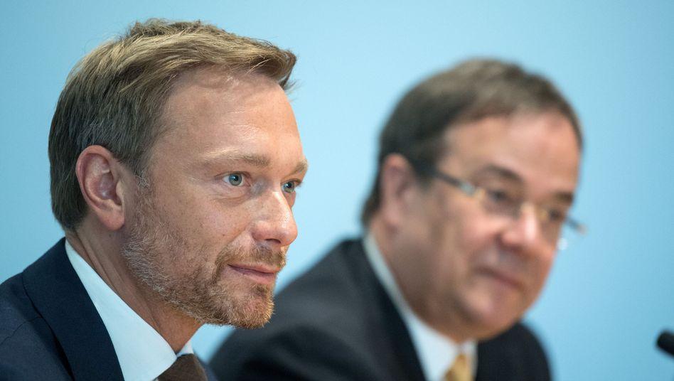 FDP-Chef Lindner, neuer CDU-Vorsitzender Laschet
