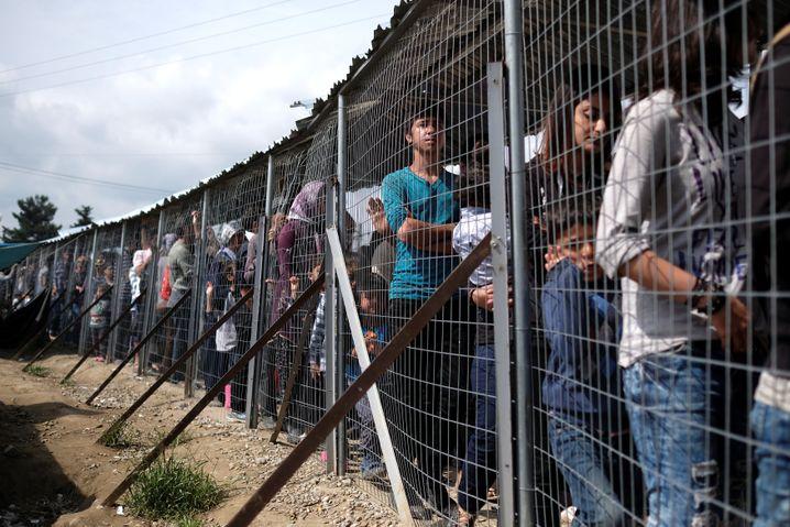 The makeshift refugee camp in Idomeni, Greece