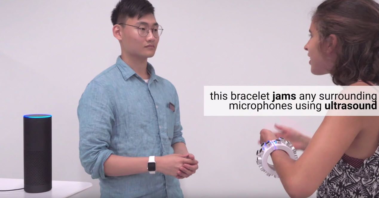 Wearable Microphone Jamming