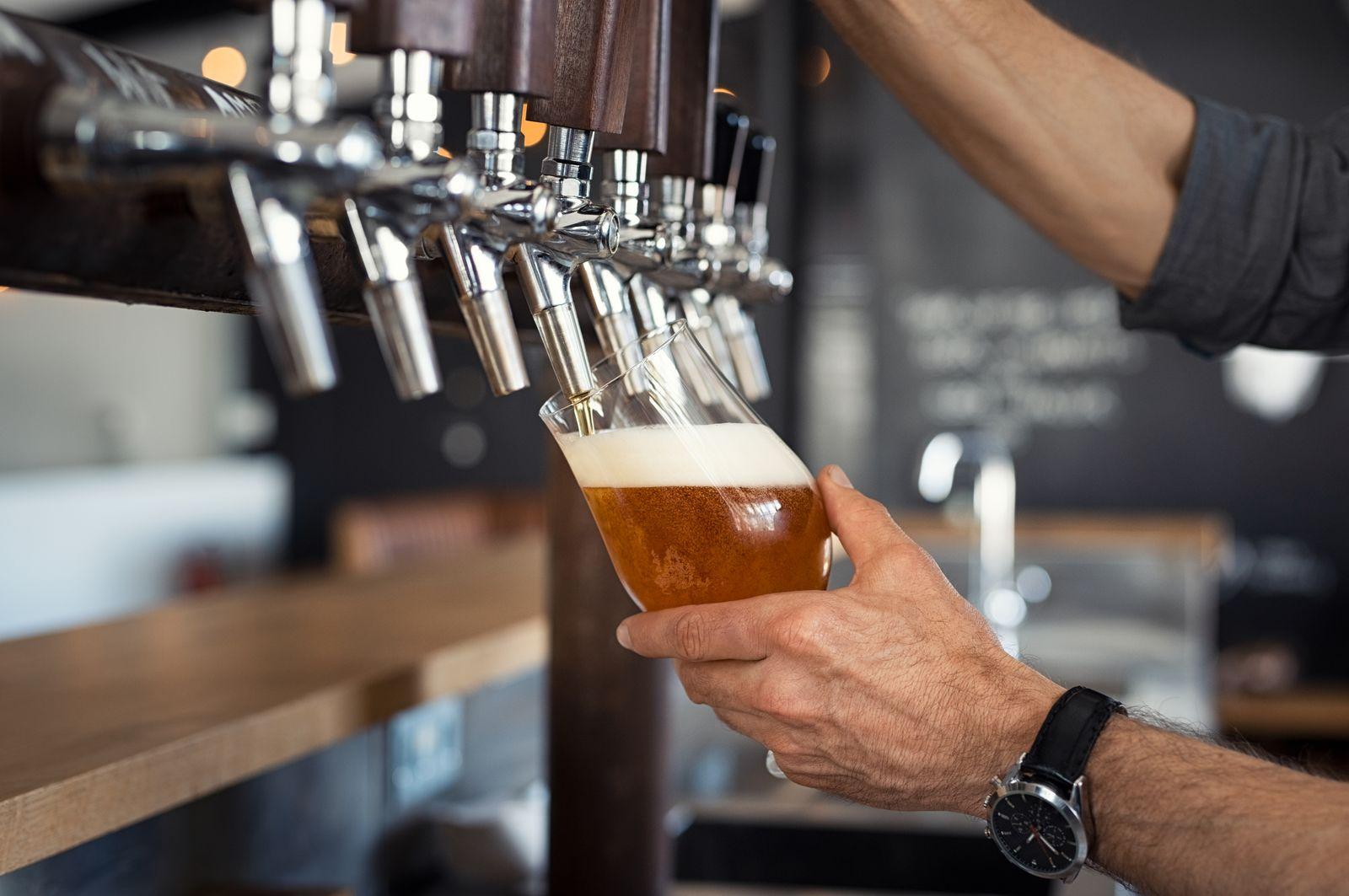 EINMALIGE VERWENDUNG Bier / gezapft