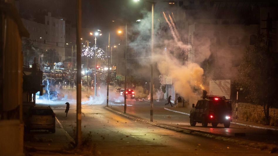 Auseinandersetzungen zwischen palästinensischen Demonstranten und der israelischen Armee in Bethlehem