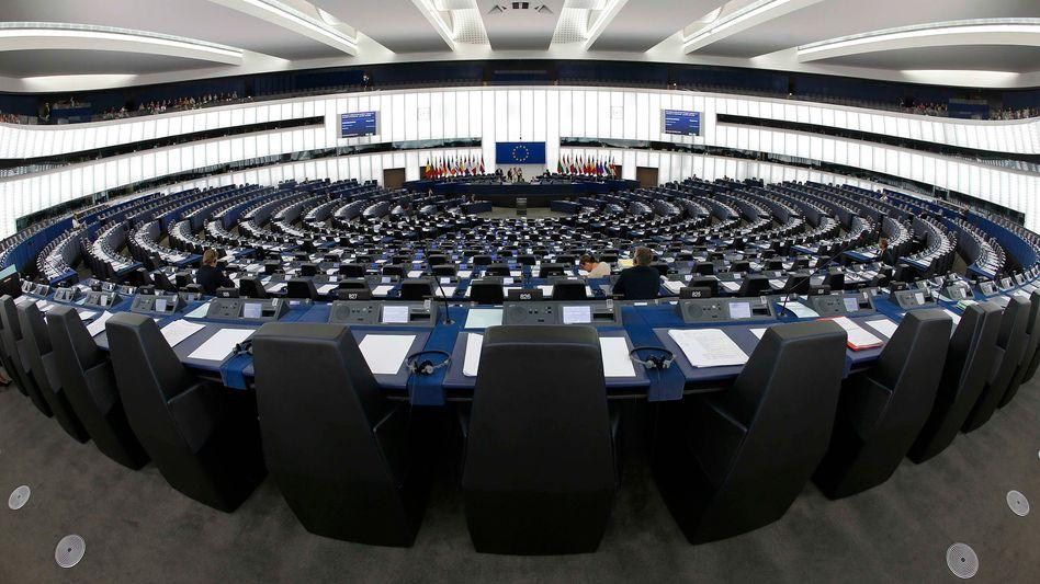 Plenarsaal des EU-Parlaments: Der Widerstand dürfte enorm sein