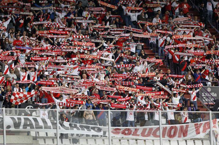 Fans von Rayo Vallecano (Archivbild)