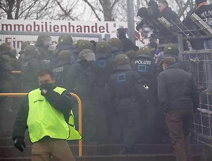 Randale in Leipzig: Polizei gegen Hooligans