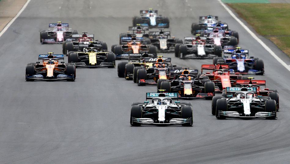 Formel-1-Rennen in Silverstone 2019