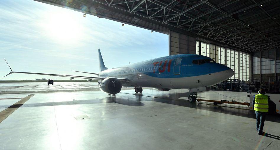 Eine Boeing 737 Max 8 der TUI