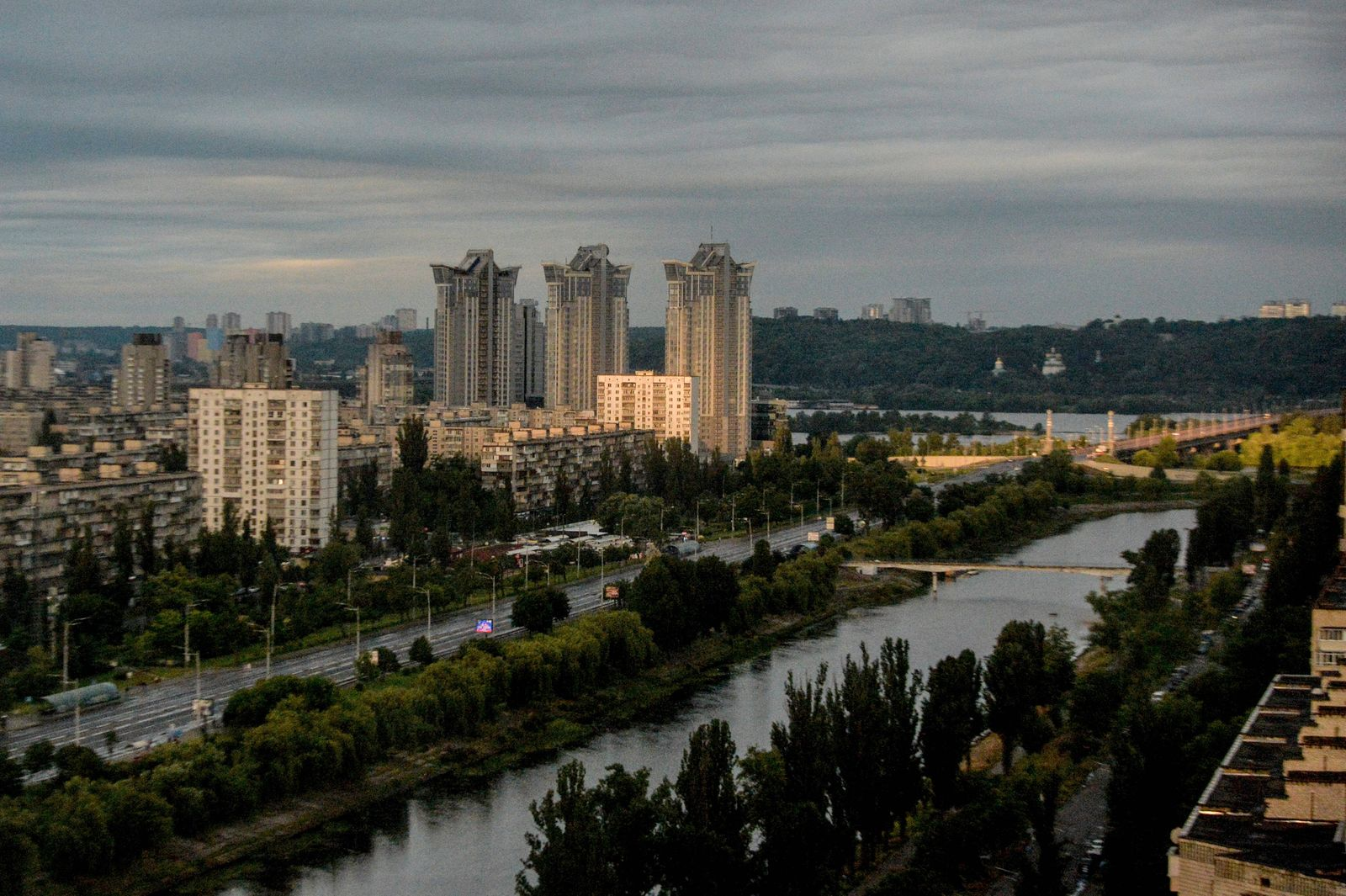 KYIV, UKRAINE - JUNE 14, 2021 - A panorama of the city is seen in the morning light, Kyiv, capital of Ukraine Copyright: