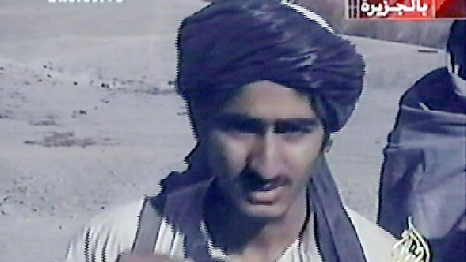 Saad bin Laden (shown here in a 2001 frame grab from Al-Jazeera), one of the sons of al-Qaida chief Osama bin Laden, was reportedly killed by a missile launched from an American drone in Pakistan in July 2009.