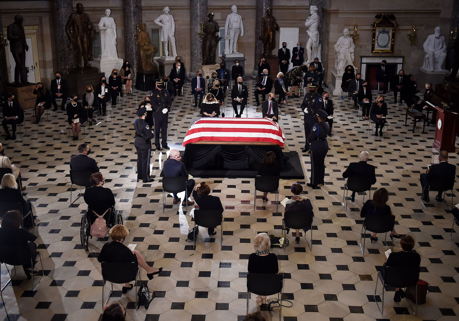 Late Justice Ginsburg lies in state, Washington, USA - 25 Sep 2020
