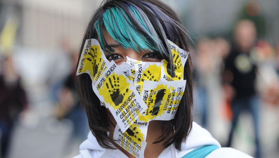 Studentin beim Bildungsstreik (2009): Wenn sonst nichts hilft, hilft Aufbegehren