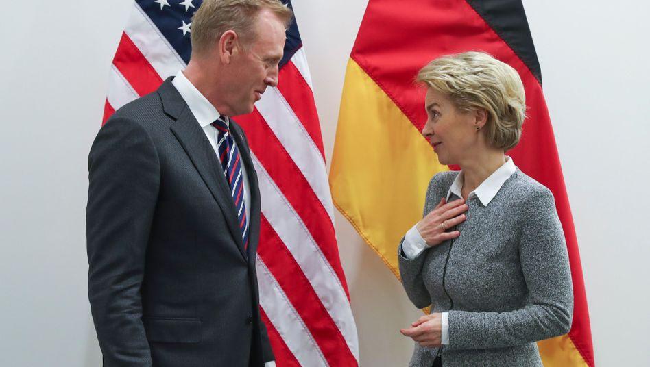 US-Verteidigungsminister Patrick Shanahan, Ursula von der Leyen