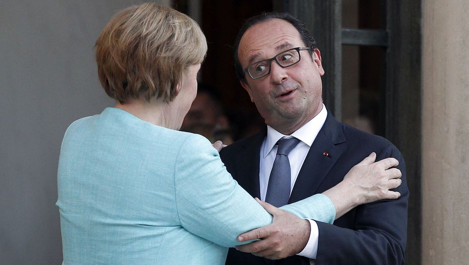 German Chancellor Angela Merkel is facing a challenge to her euro-zone policies not only by French President François Hollande, but also by her own finance minister.