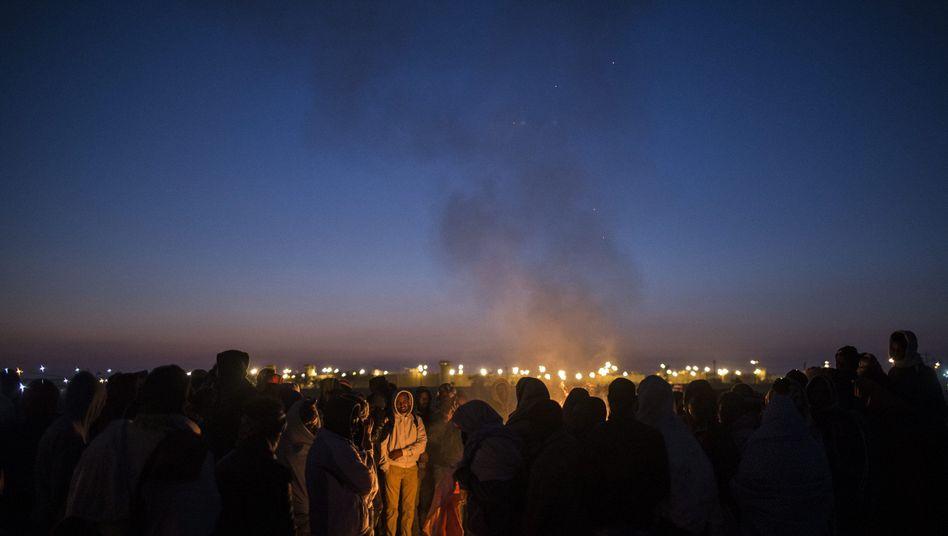 Flüchtlinge protestieren gegen ein Internierungslager in der Negev (Archiv)