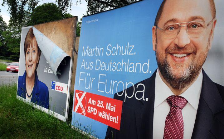 """Schulz-Wahlplakat: """"Als Deutscher die Wahl gewinnen"""""""